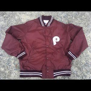 Vintage PHILLIES Baseball MLB Jacket Dub Sided M